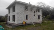 Стоительство домов из блоков под ключ в Солигорске и р-не