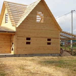 Дом-Баня из бруса готовые срубы с установкой-10 дней Солигорск
