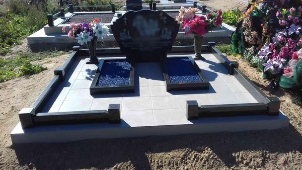 Благоустройство могил и установка памятника  Солигорск 4