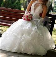 Шикарное свадебное платье Американка